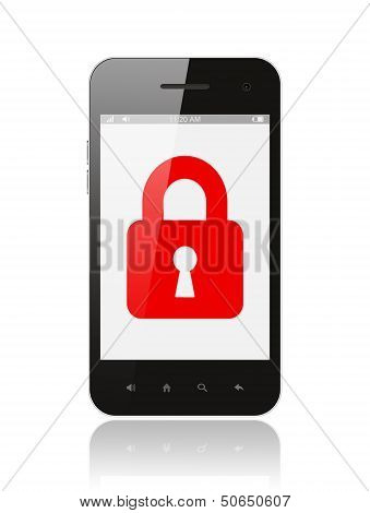 Smart phone with closed lock