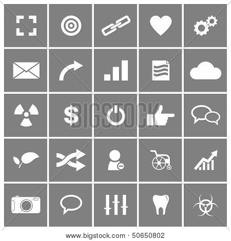 Universal Flat Vector Icons Set 4