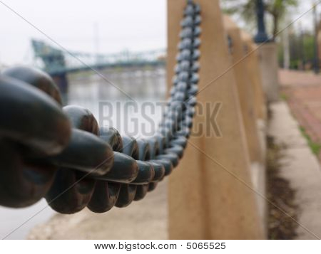 Heavy Chain, Circle Links, Canal, Bridge In Background