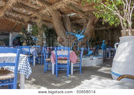 a typical Greek taverna