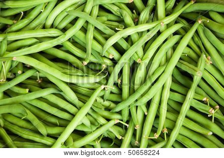 Fresh Green French Bean Background