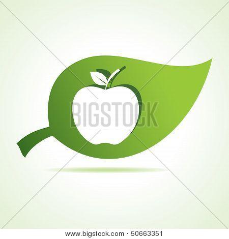 Apple icon at leaf
