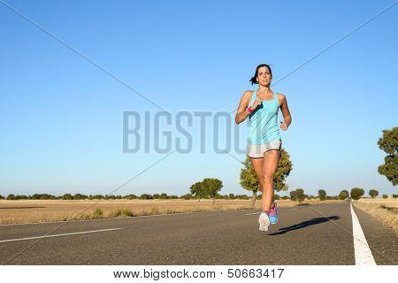 Woman Training For Marathon