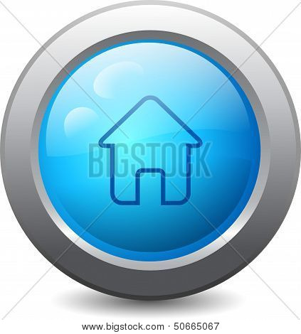 Web Button With Home Icon