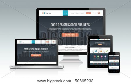 Design do site responsivo