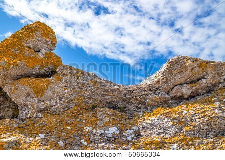 Colorful Rocks On Under Blue Sky