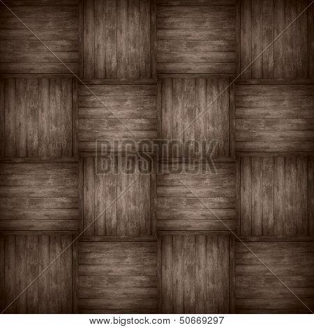 Chequered Pattern Wooden Brown Background
