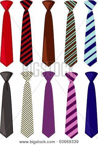 Men's colored neckties vector illustration
