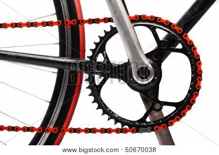 Red Bicycle Chain
