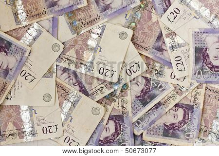 British Twenty Pound Notes