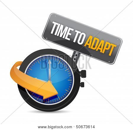 Time To Adapt Watch Concept Illustration