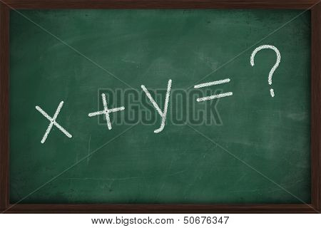 X Plus Y Writing Chalkboard