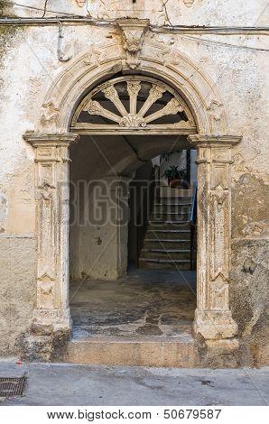 Historical palace. Rodi Garganico. Puglia. Italy.