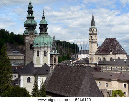 Salzburg Old Town Spires