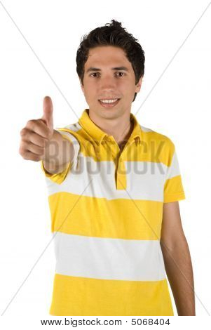 Handsome Man With Thumb Up