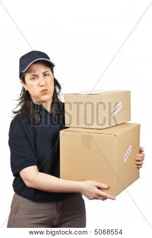 Delivering A Parcels Fragile