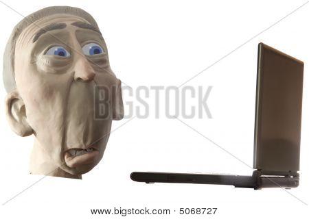 Dismay At Laptop