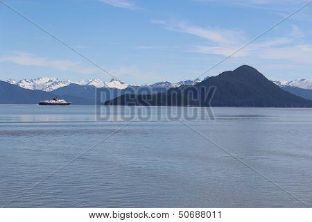 Alaska Ferry with Kadin Island