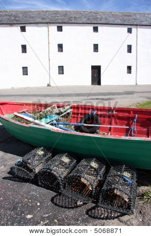 Lobster Creels And Old Boat