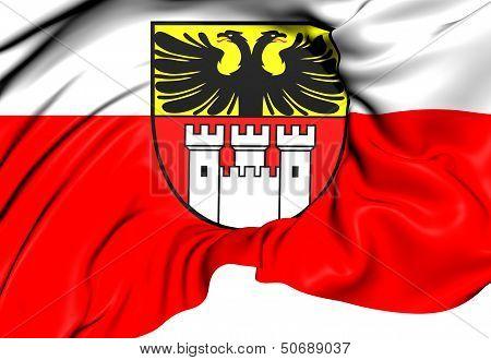 Flag Of Duisburg, Germany.
