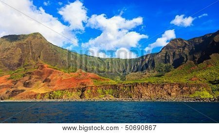 Kalalau Valley From The Ocean
