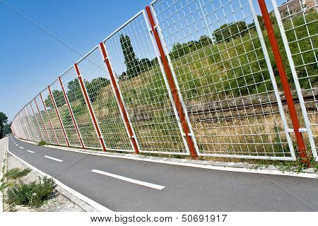 Bicycle Path And Fence