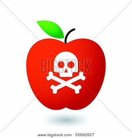 Apple with a skull