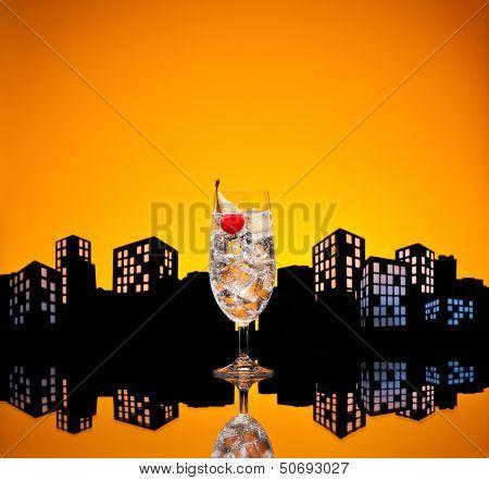 Metropolis Gin Tonic Tom Collins Cocktail