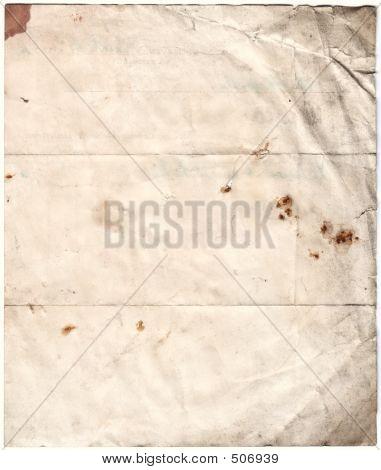 Antiguo papel cariado (trazado de recorte de inc)