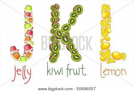 Alphabetic Letters  J, K, L