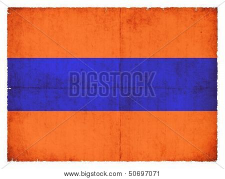 Grunge Flag Of  The Historic State Nassau (germany)