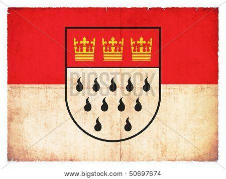Grunge Flag Of Cologne (north Rhine-westphalia, Germany)