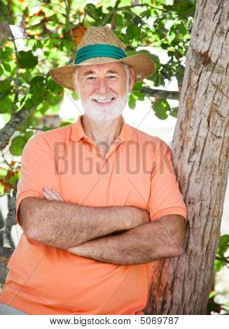 Senior Man In Shade