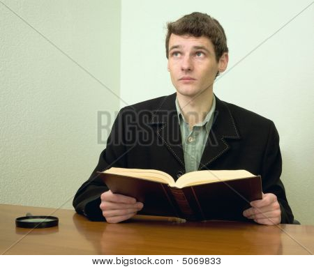 Man Read Book