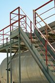 picture of bannister  - Iron Industry staircase leading up to the tank - JPG