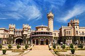 stock photo of karnataka  - garden and bangalore king palace karnataka india - JPG