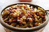 stock photo of kidney beans  - Three bean salad - JPG