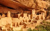 stock photo of cortez  - Anasazi Mesa Verde Cliff Palace Colorado USA - JPG