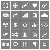 stock photo of universal sign  - Universal Flat Vector Icons Set 4 of 4 - JPG