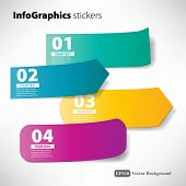 stock photo of section  - stickers infographic for your design with numbers - JPG