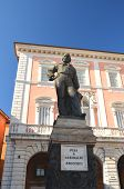The statue and square of Giuseppe Garibaldi in Pisa, Italy
