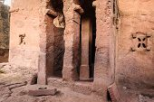 pic of ethiopia  - Bete Amanuel monolitic church Lalibela Ethiopia Africa - JPG
