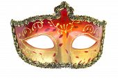 stock photo of venetian carnival  - Carnival mask Christmas New year Venetian white background isolated object - JPG