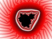 stock photo of mandelbrot  - Red fractal Mandelbrot set for the design and background - JPG