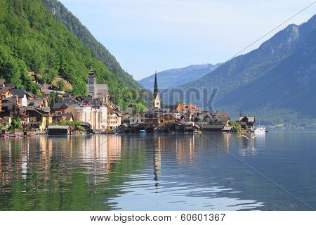 beautiful lake and town in Austria