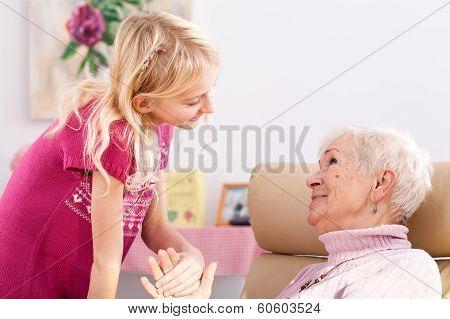 Smilening Granddaughter