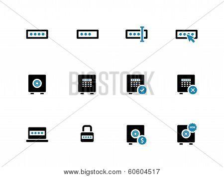 Password duotone icons on white background.