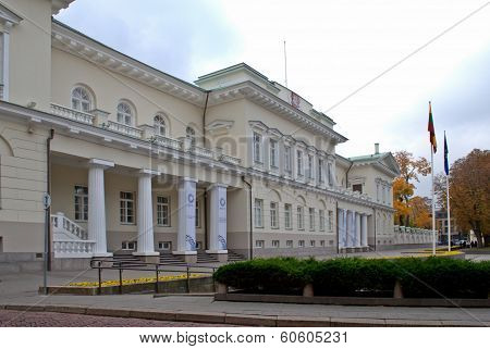 View Of The Presidential Palace In Vilnius