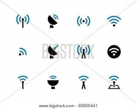 Radio Tower duotone icons on white background.