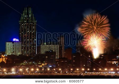 Fireworks Over The City